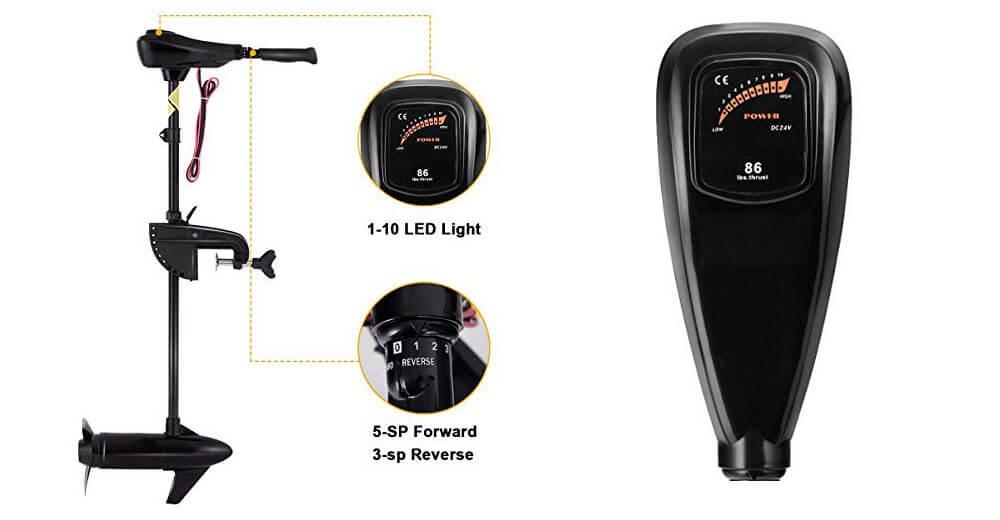 Goplus Electric 8 Speed has LED battery meter