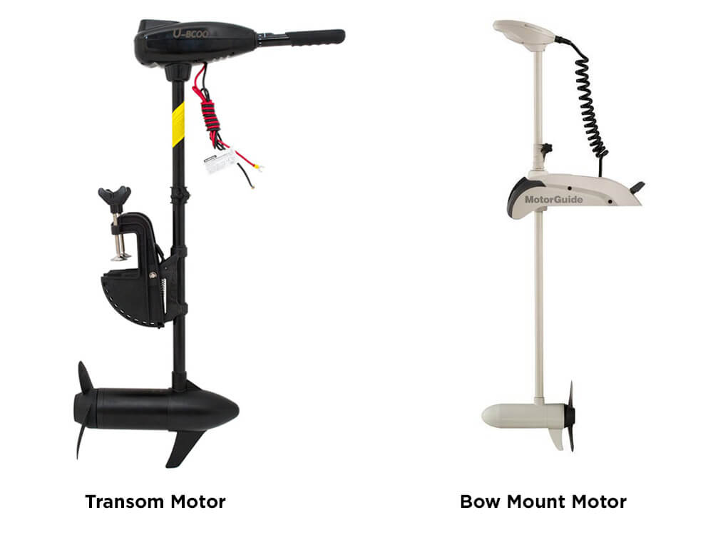 Transom Motor and Bow Mount Motor