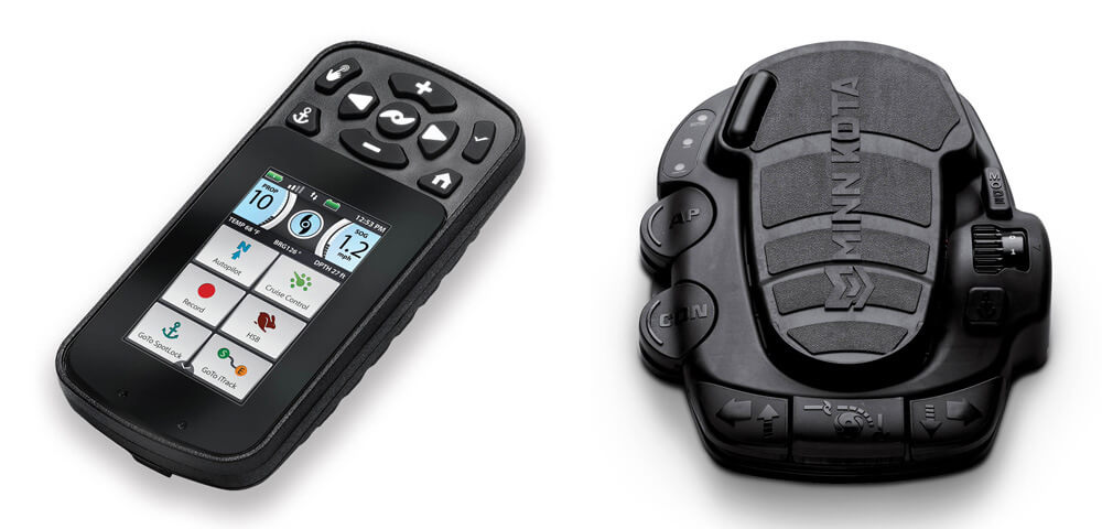 Minn Kota Ulterra has a foot pedal and i-Pilot remote control