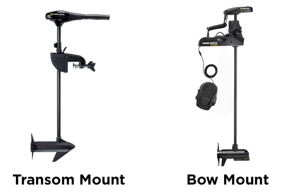 Transom mounts and bow mounts trollin