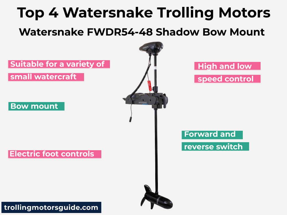 Watersnake FWDR54-48 Shadow Bow Mount
