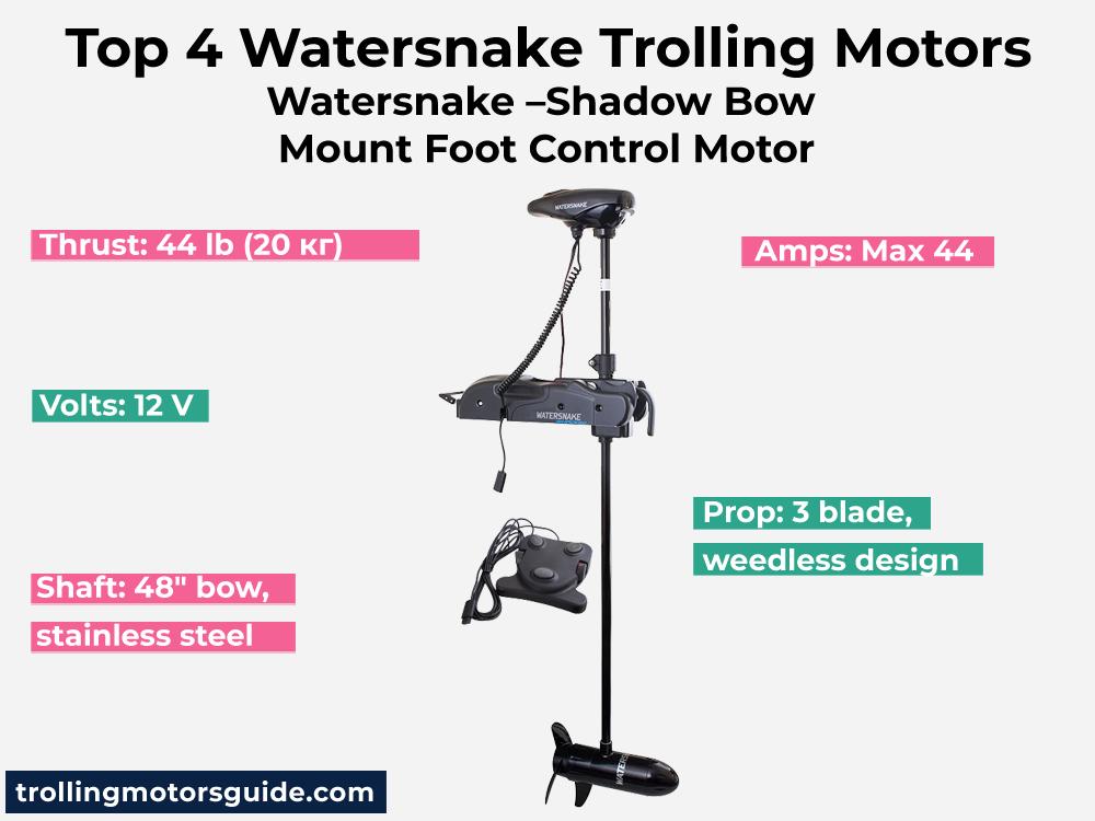 Watersnake –Shadow Bow Mount Foot Control Motor