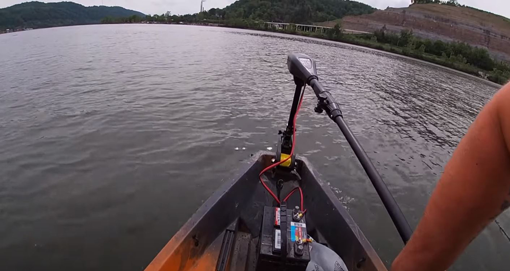 55lb thrust trolling motor with battery